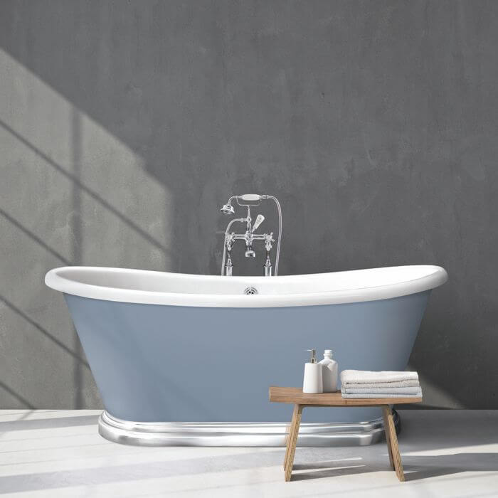 Acrylic Boat Bath with Aluminium Plinth
