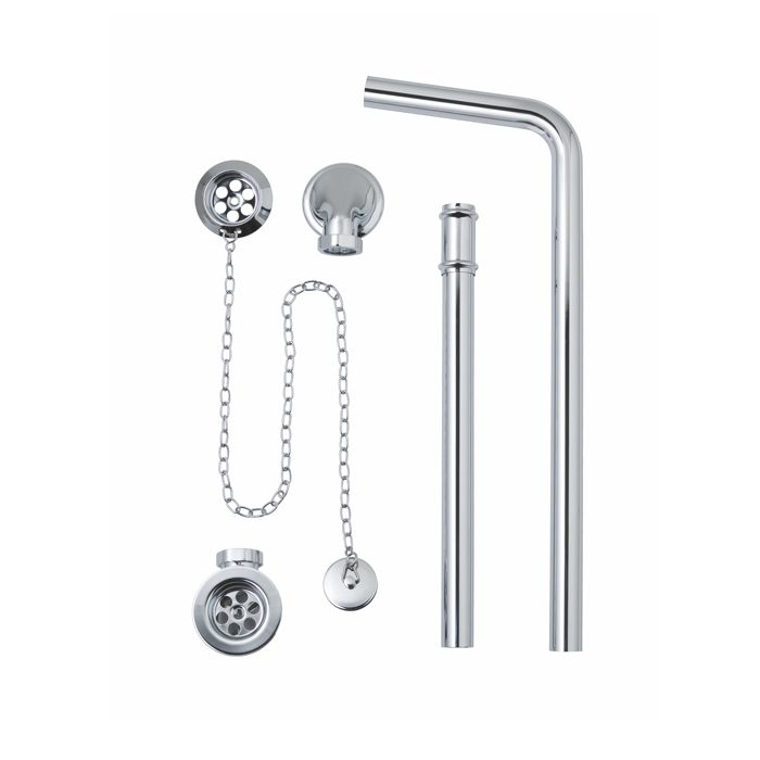 Exposed Bath Waste / Plug & Chain with Overflow Pipe