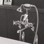 Victrion Crosshead Deck Mounted Bath Shower Mixer