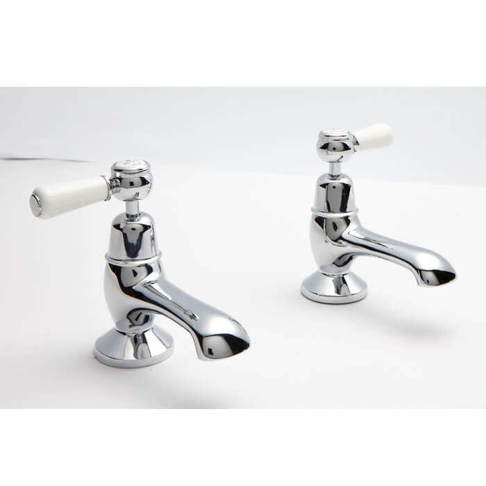 Victrion Lever Bath Pillar Taps