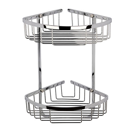Victrion Double Corner Shower Basket