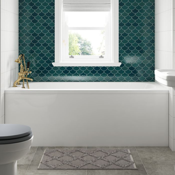 BC-SolidBlue Bath Panels