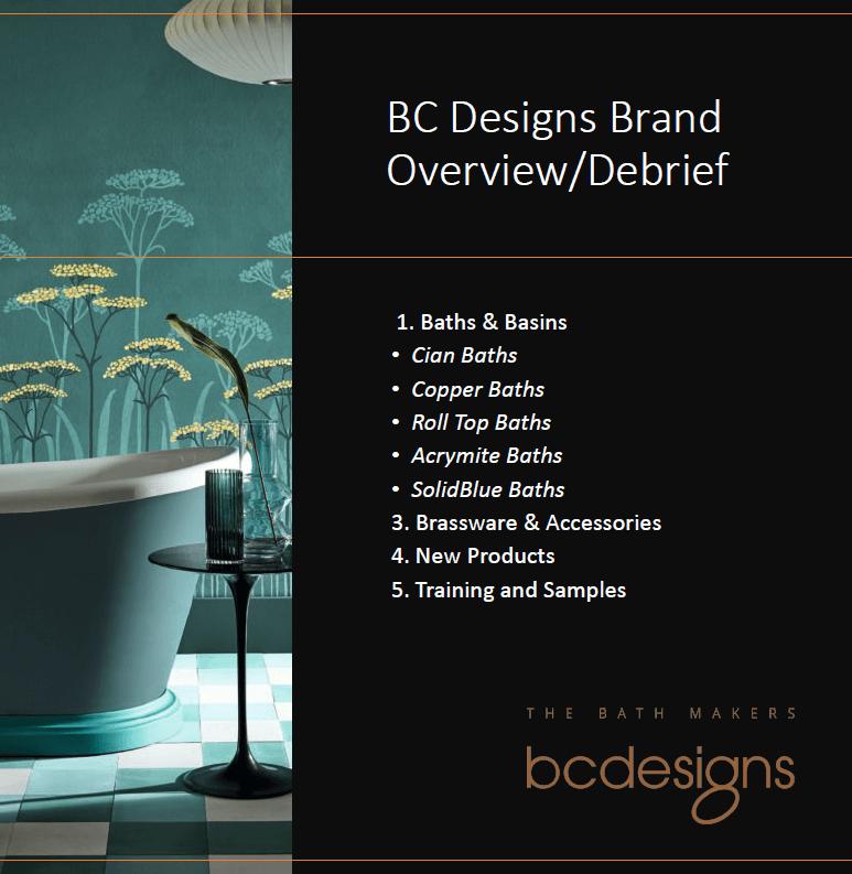 BC Designs Training Document